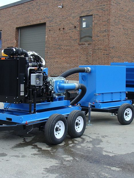 82 hp Custom Industrial Vacuum for underground diamond mining by DuroVac