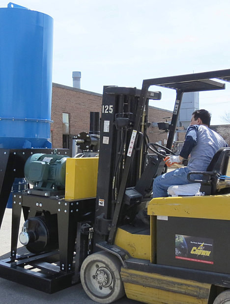 Industrial Vacuum on Forklift