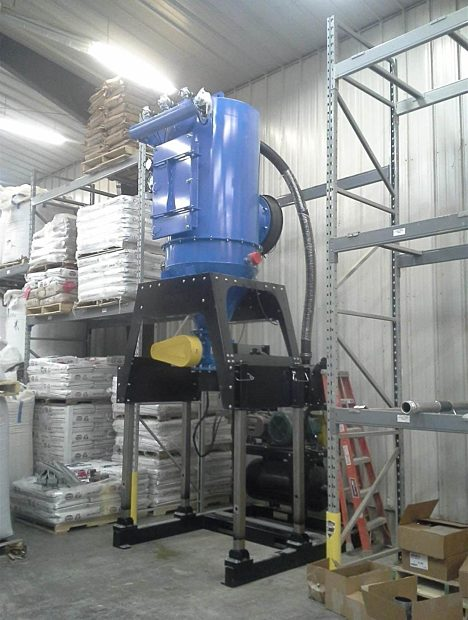 25 hp Elevator Industrial Vacuum for Feed Mill.