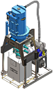 DuroVac Elevator Series industrial vacuum system for filling drums, boxes, or supersacks