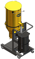 Lifetime Series LTS 3  is the world's strongest single-phase industrial vacuum for silica dust by DuroVac