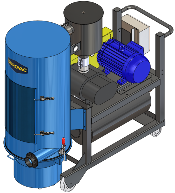 DVP Portable Industrial Vacuum with positive displacement vacuum pump.