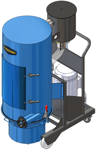 DVR Portable Industrial Vacuum for moderately dense material