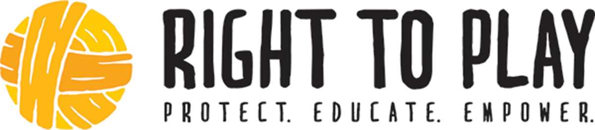 Right to play charity banner