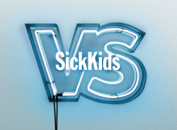 Sick kids charity banner
