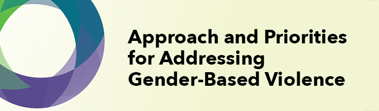 Approach and Priorities for Addressing Gender-Based Violence