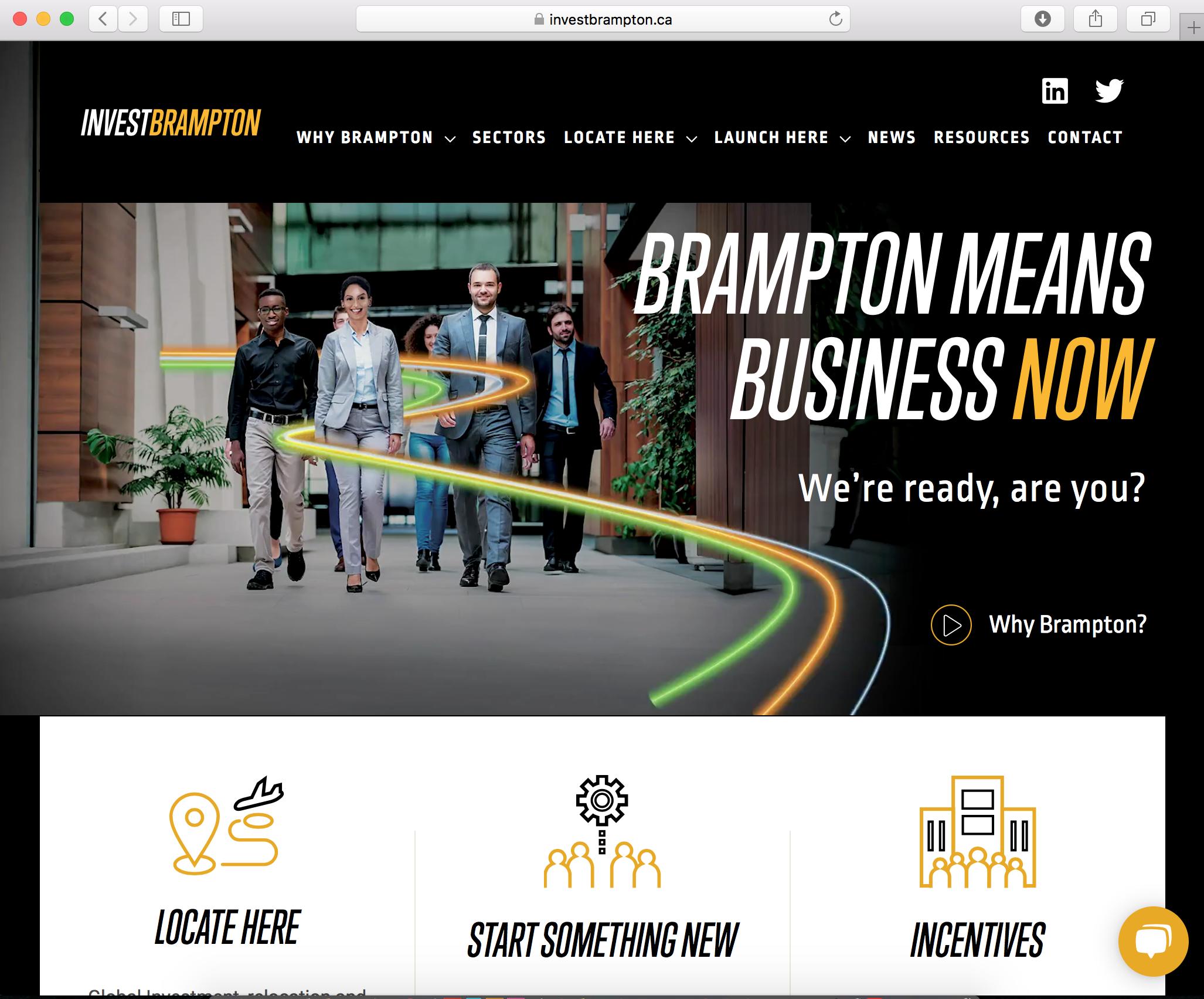 Invest Brampton Website