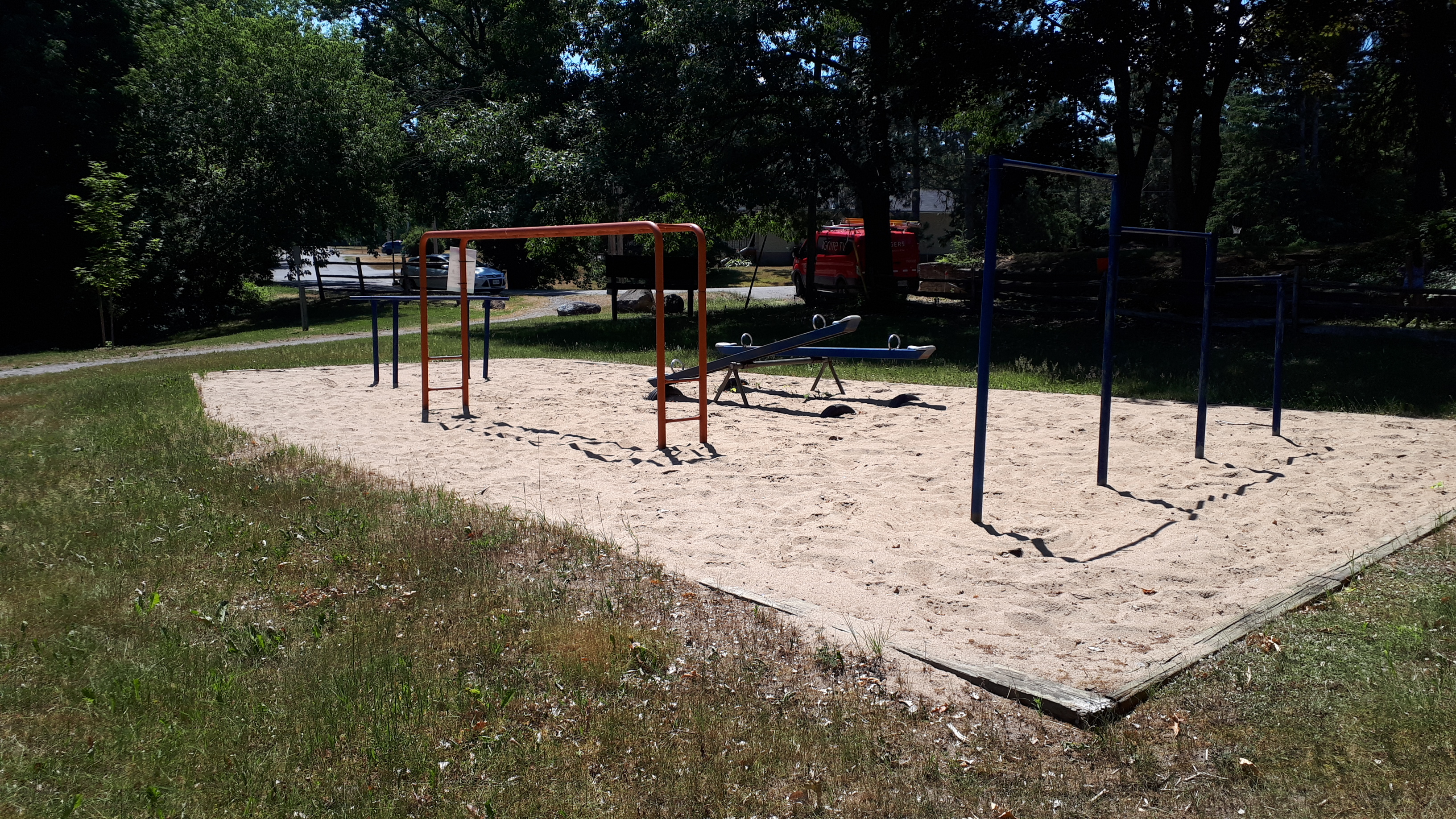 Image of the existing play equipment in Green Briar Park.