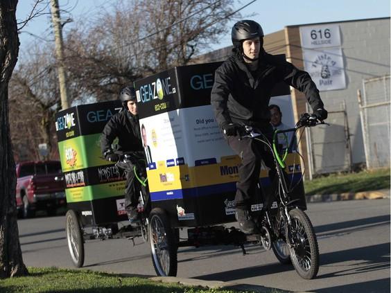 Vélos cargo électriques à usage commercial en Vancouver