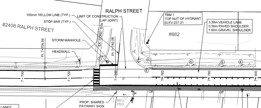 Pictured is a design drawing of the area where the construction is taking place.