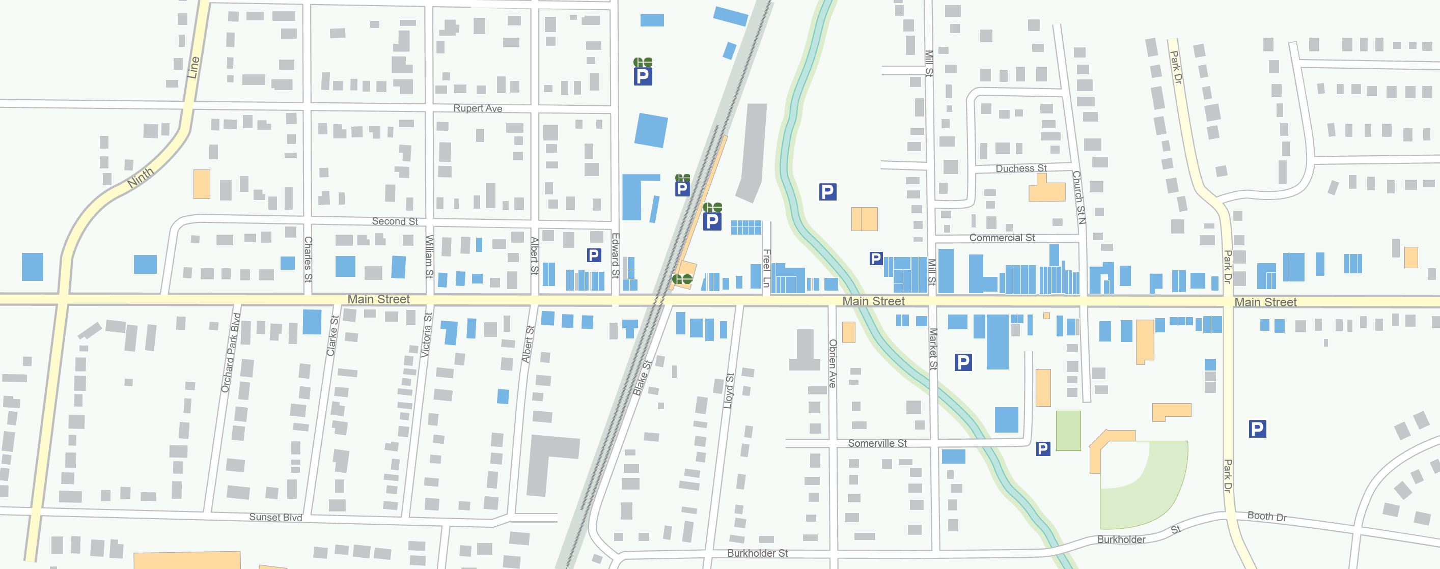 Map of Downtown Stouffville