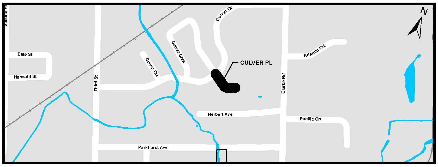 A map of Culver Place. For more information, assistance, or to ask questions, please contact Kyle Fairhurst at kfairhur@london.ca