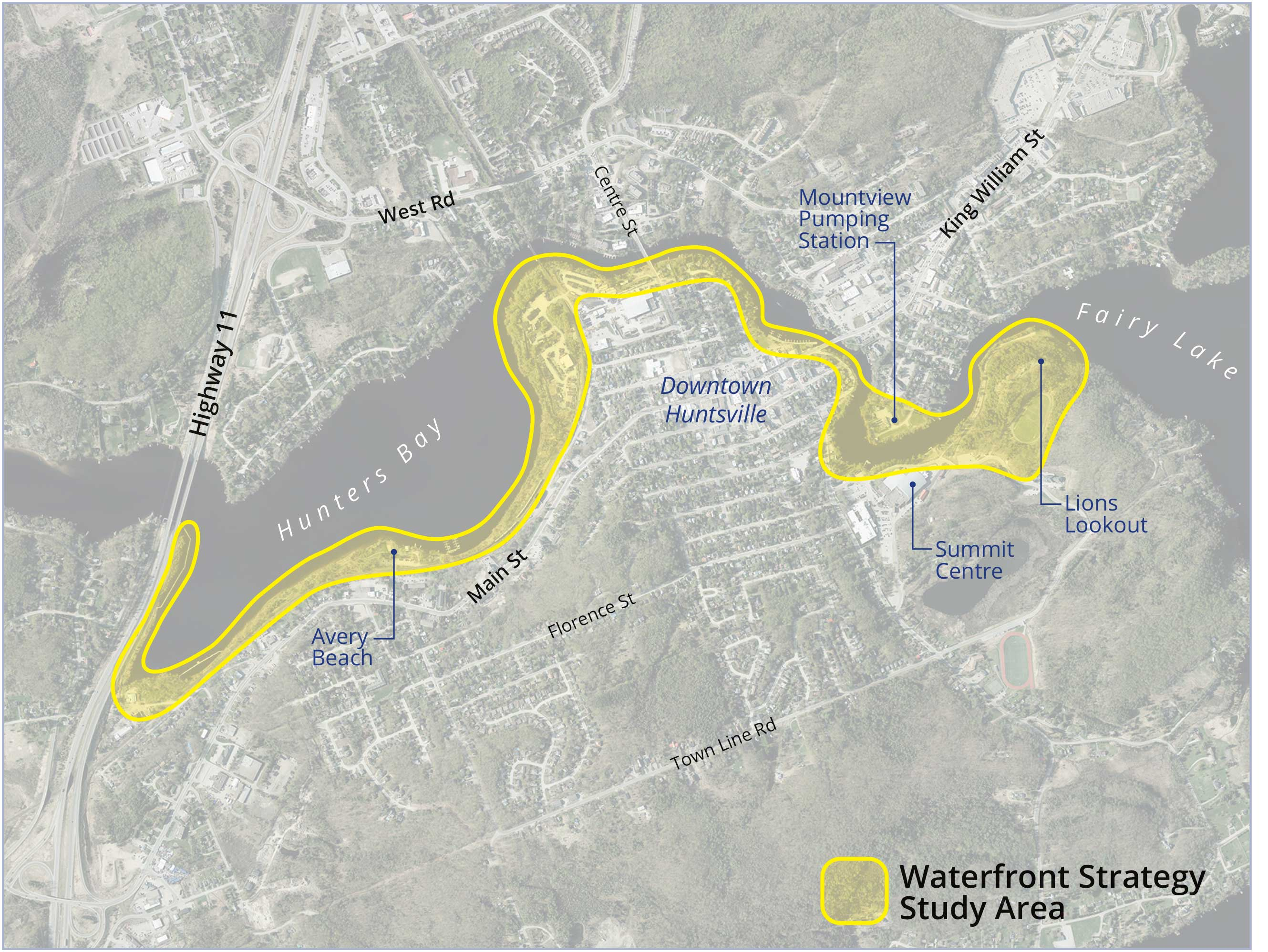 Image of the Waterfront Strategy Study Area