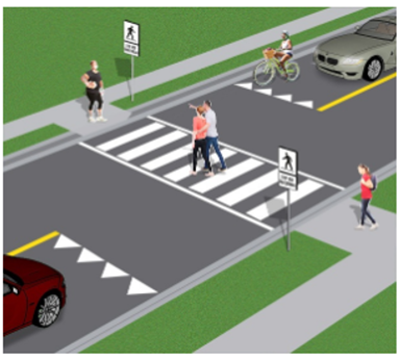 artist's drawing of crosswalk