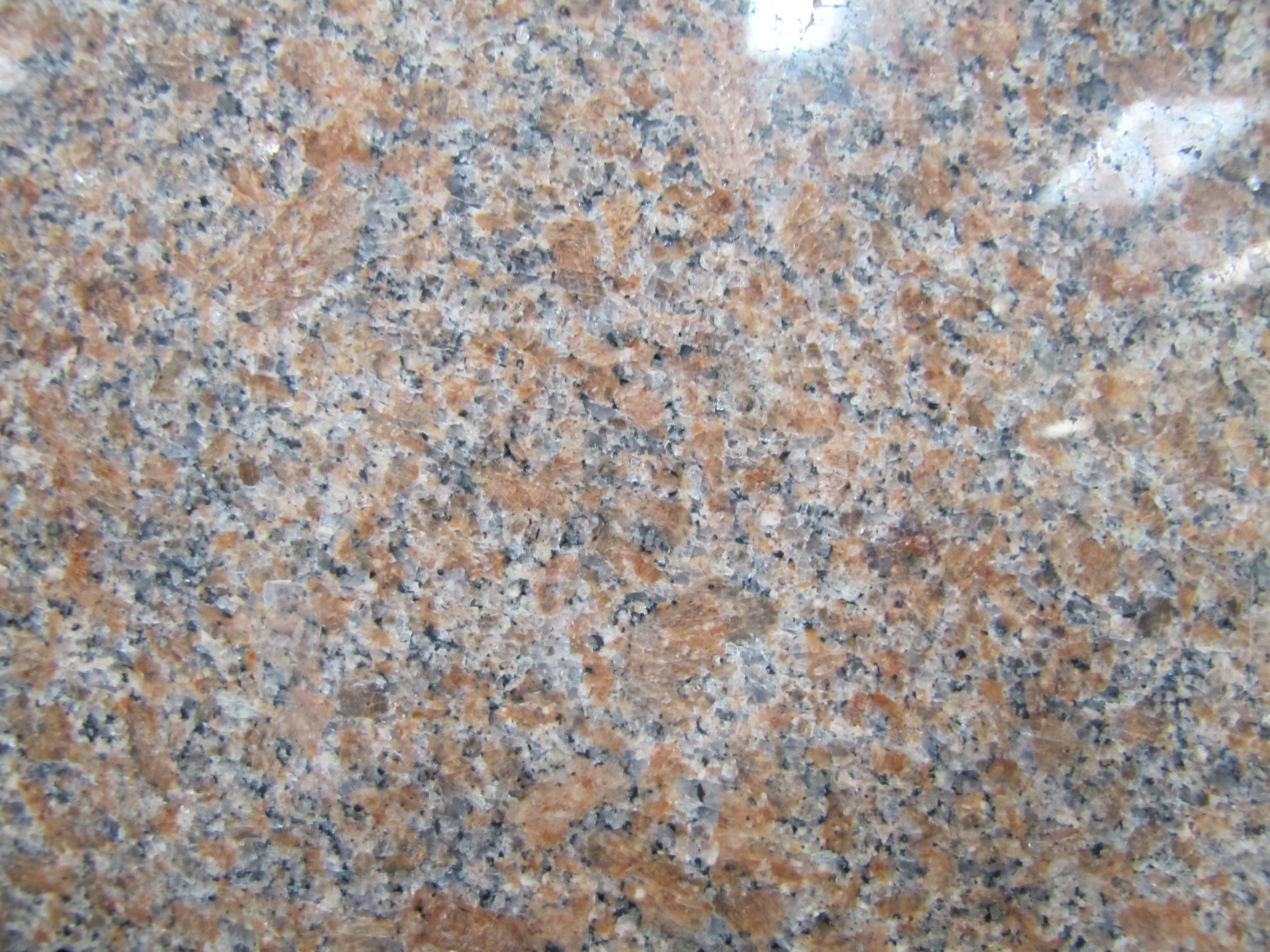Photo of a polished slab of 'Canadian Mist' granite from the Lac du Bonnet area.