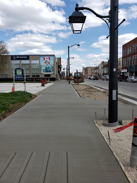 New sidewalk at Cenotaph