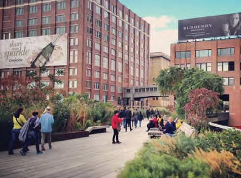 Gardens within a public space