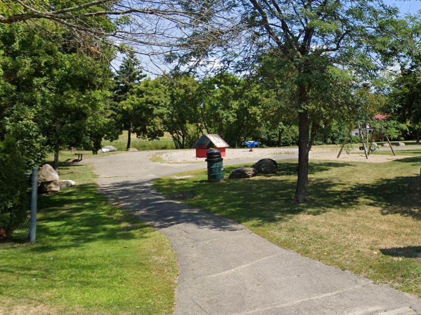 Image de la structure de jeu existante dans Ghosh Park.