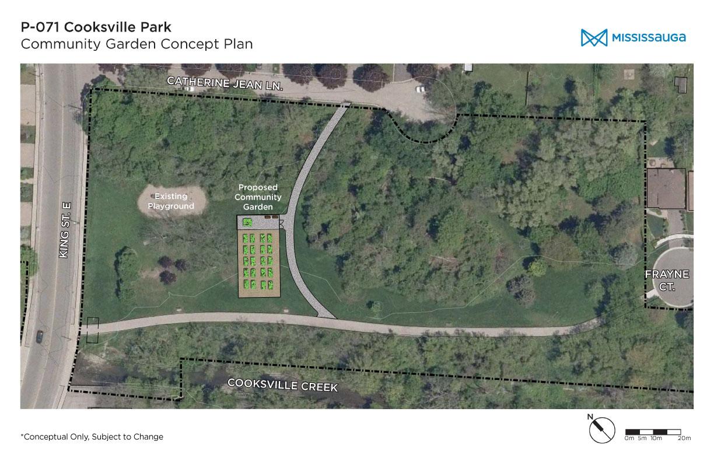 community garden concept plan