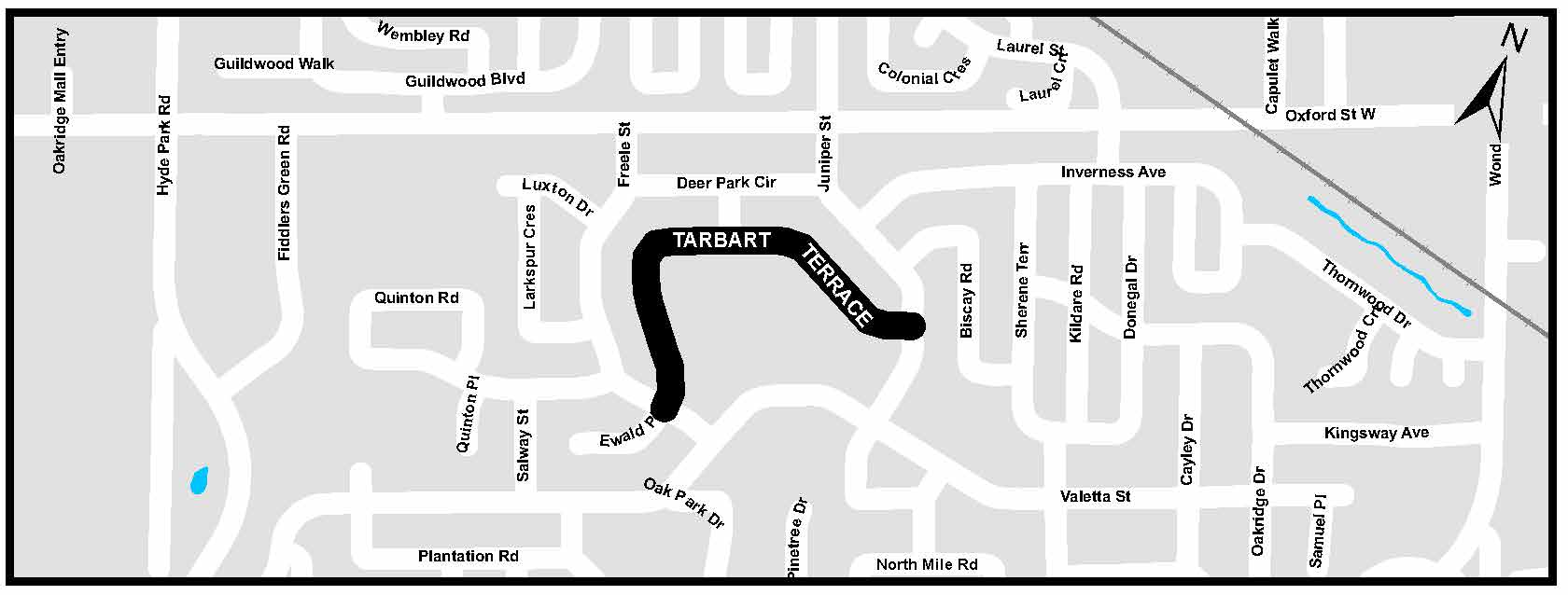 A map of Tarbart Terrace. For more information, assistance, or to ask questions, please contact Gage Gonyou at ggonyou@london.ca