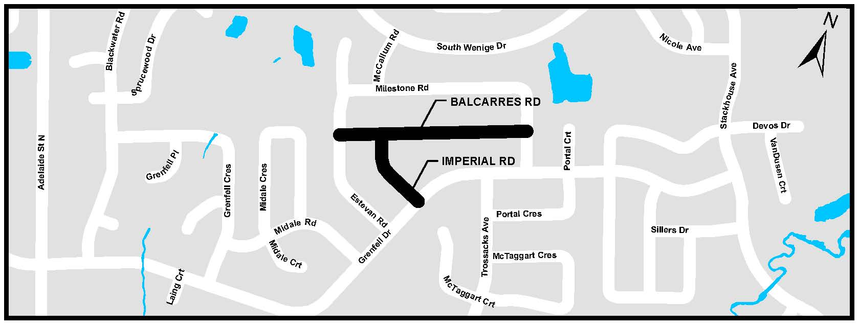A map of Balcarras Road and Imperial Road. For more information, assistance, or to ask questions, please contact Kyle Fairhurst at kfairhur@london.ca