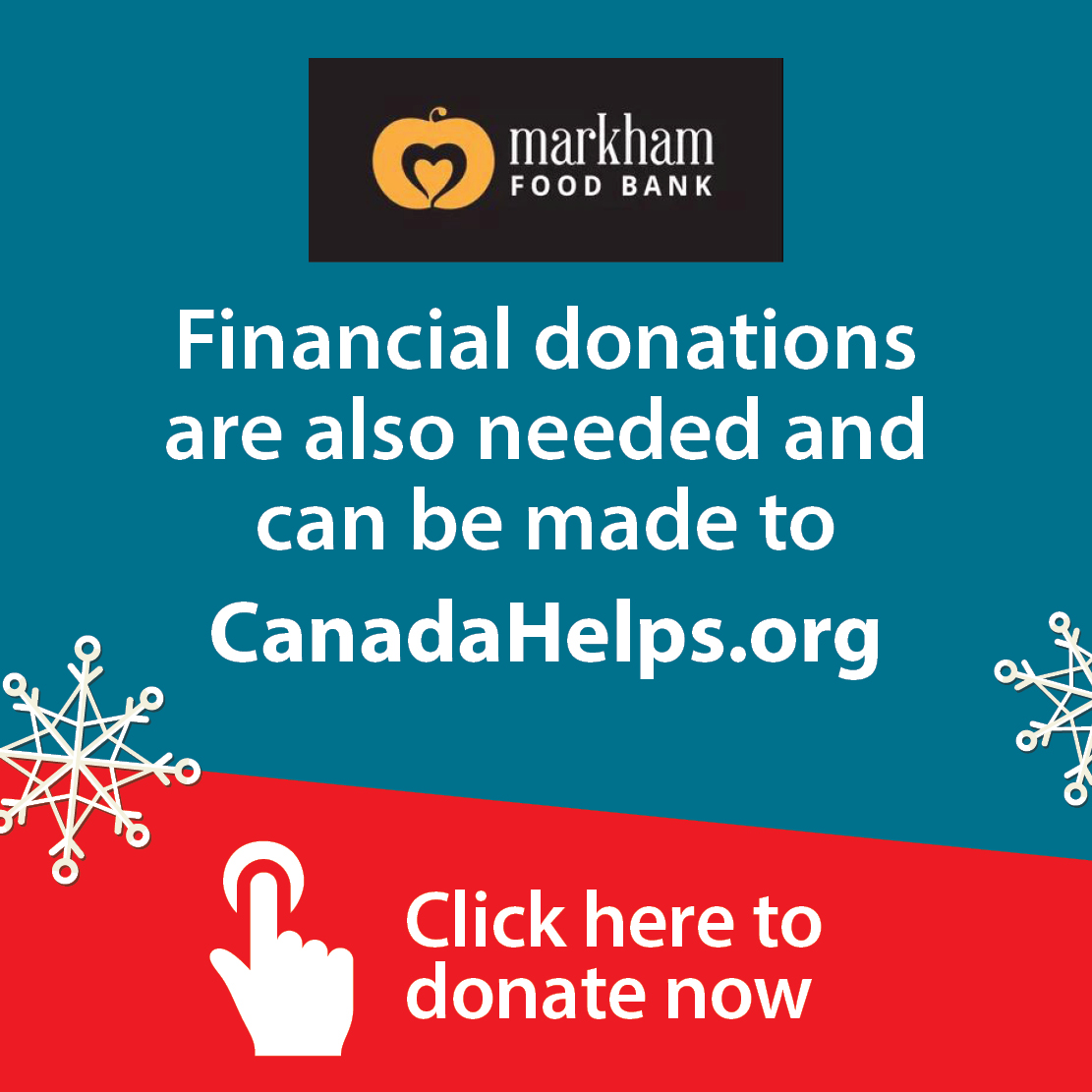 Markham Food Bank Financial Donations