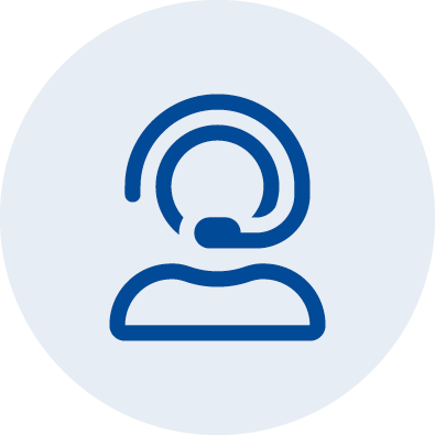 an illustration icon of a person with a  headset