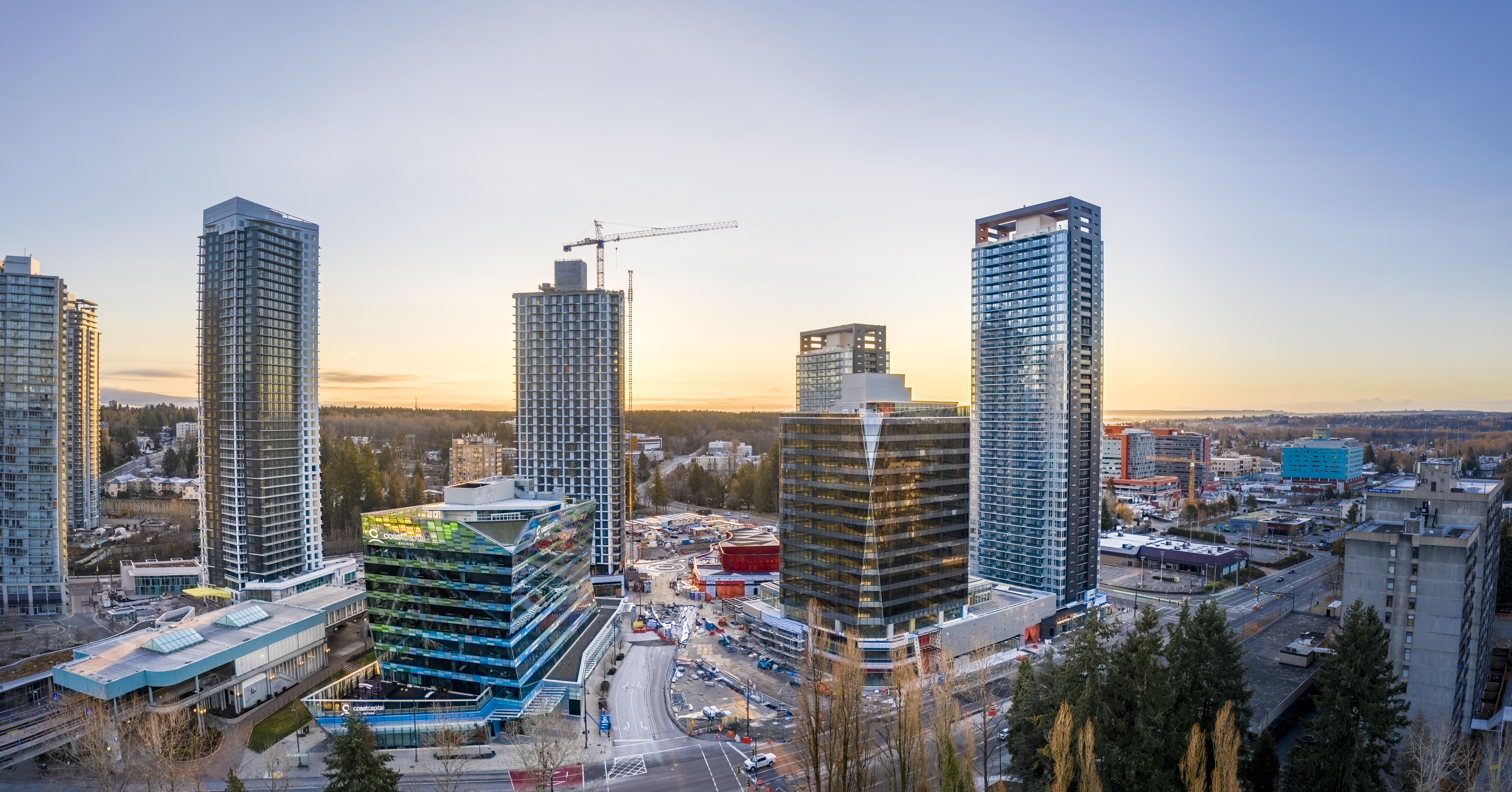 New office buildings in Surrey City Centre