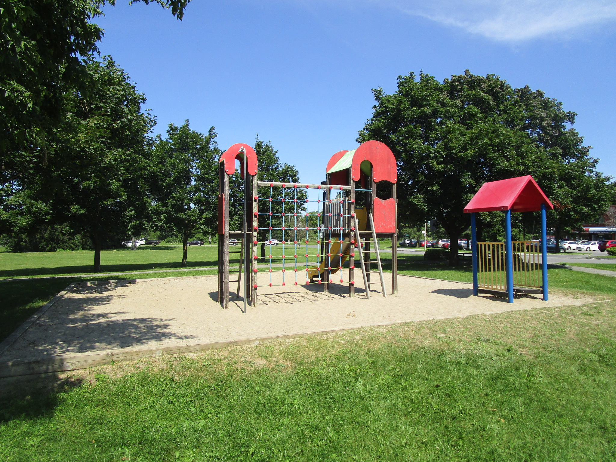 The existing play structure at Greenboro Pavilion Community Centre