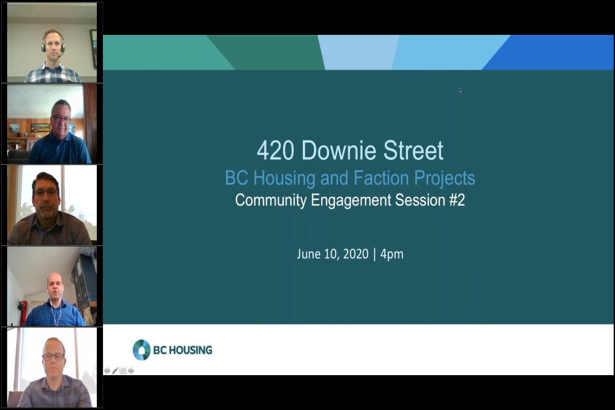 420 Downie Street BC Housing And Faction Projetcs - Community Engagement Session #2