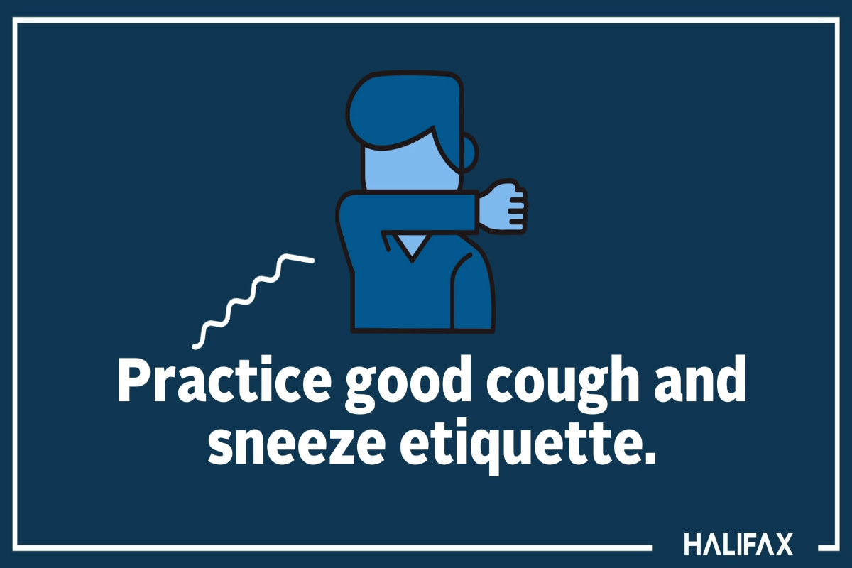 Cough and sneeze etiquette