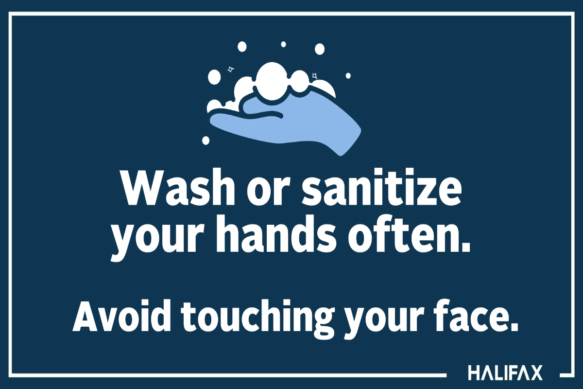Wash or sanitize your hands often