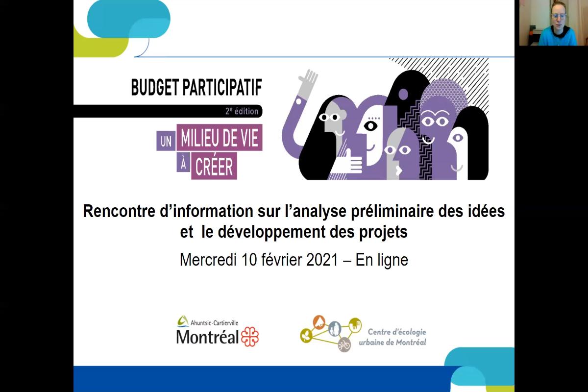 Rencontre d'information - Phase développement de projet - février 2021