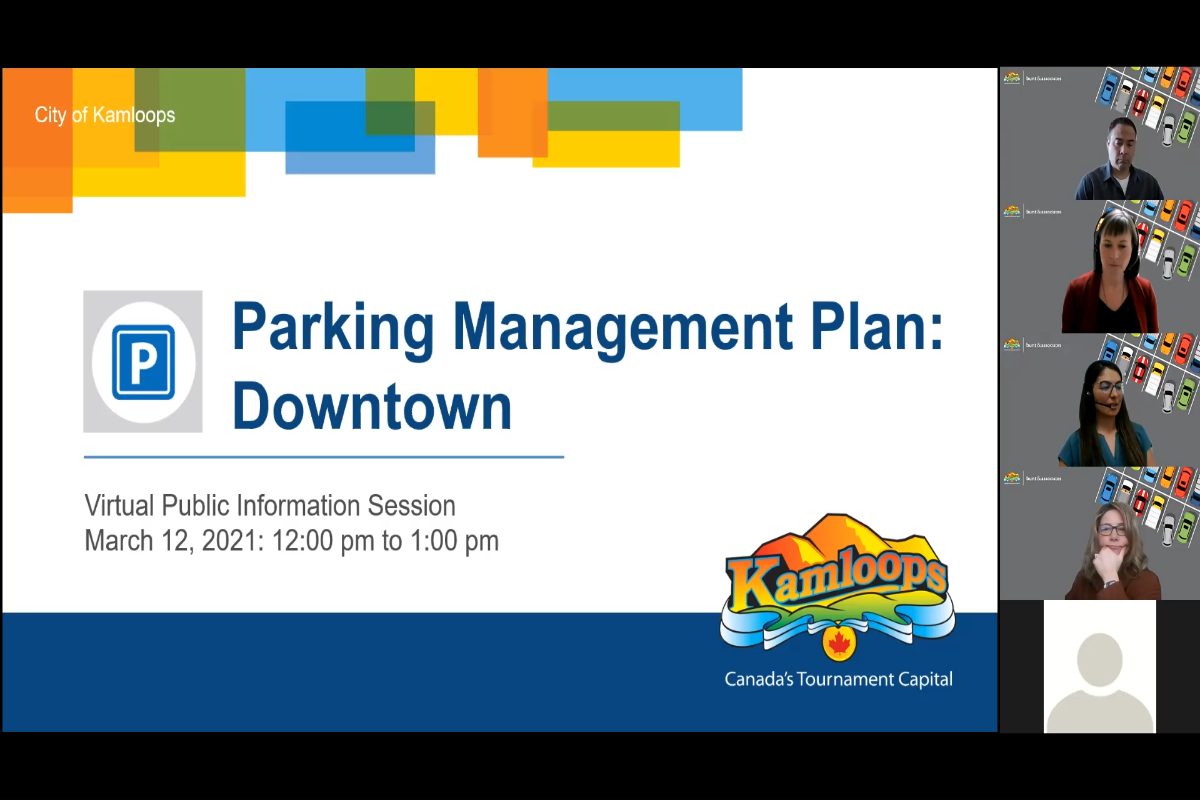 March 12 - Downtown Parking Management Plan Virtual Session