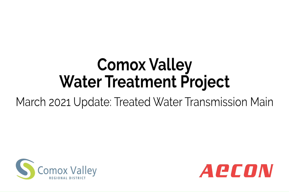March 2021 Update: Treated Water Transmission Main