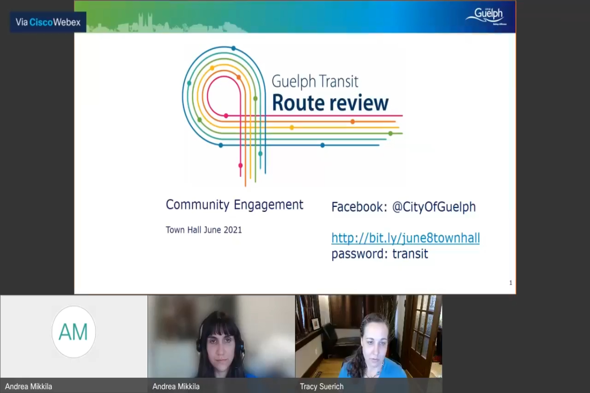 Guelph Transit Route Review June 8th Town Hall Recording