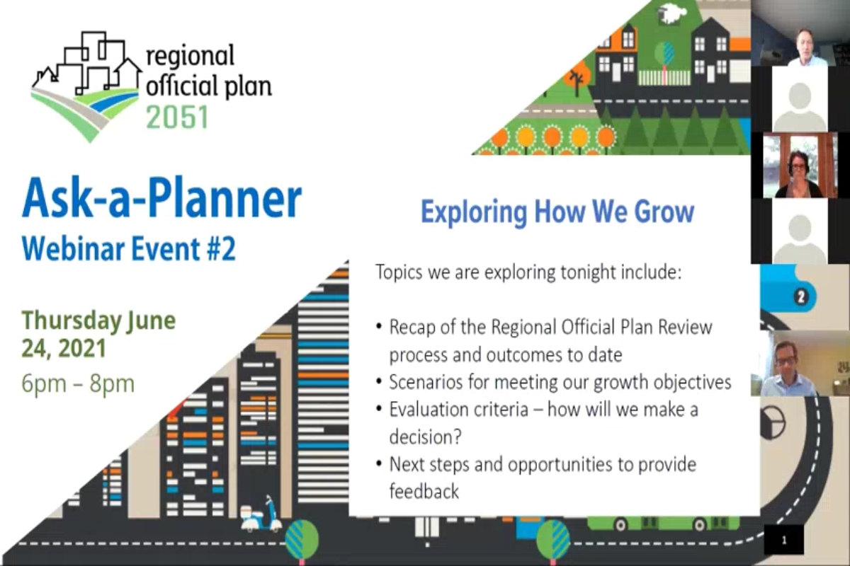 Presentation from the 2nd Ask-A-Planner Webinar - June 24, 2021