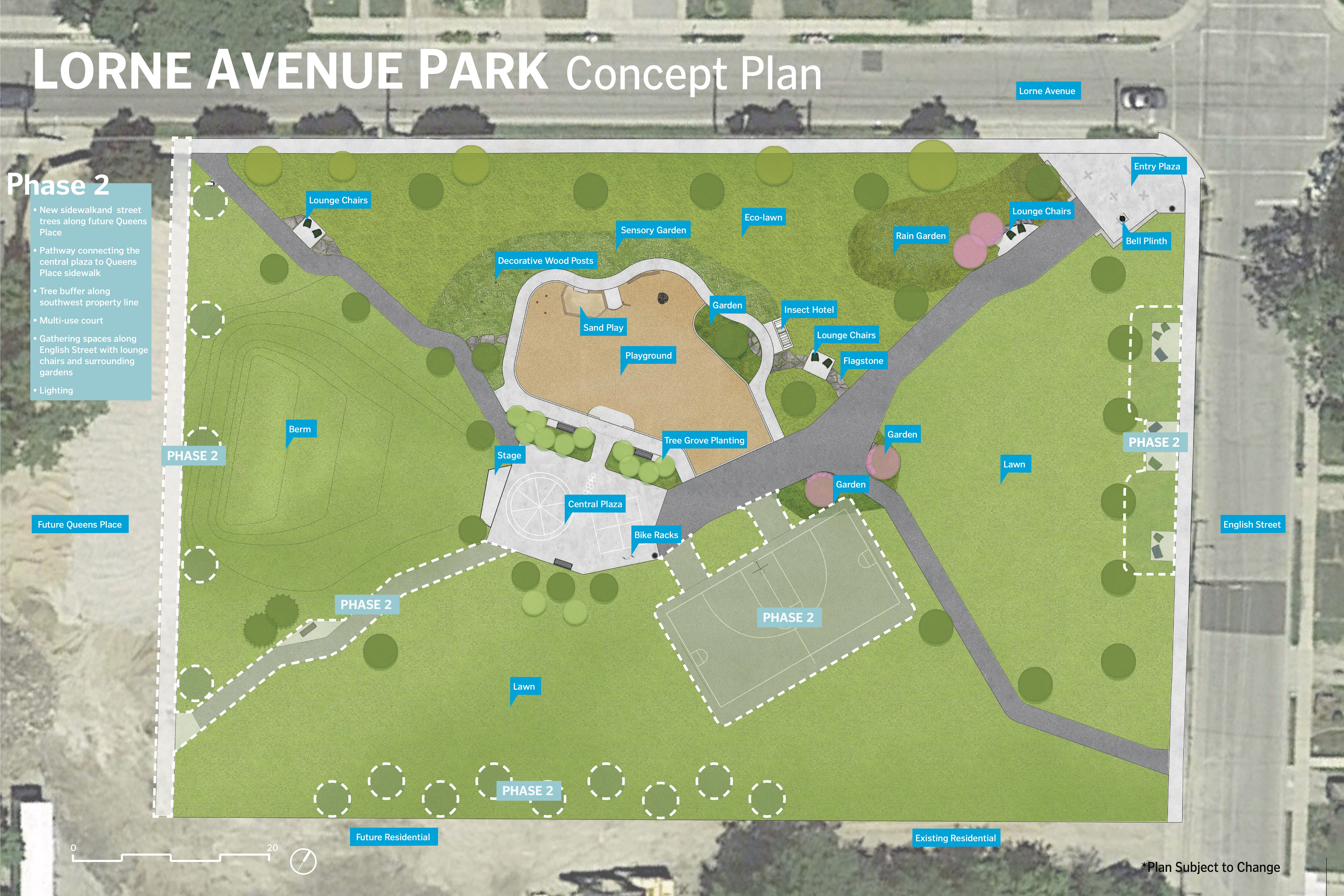 Lorne Avenue Park Concept Plan