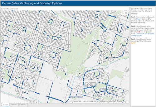 Map of Hamilton neighbourhood