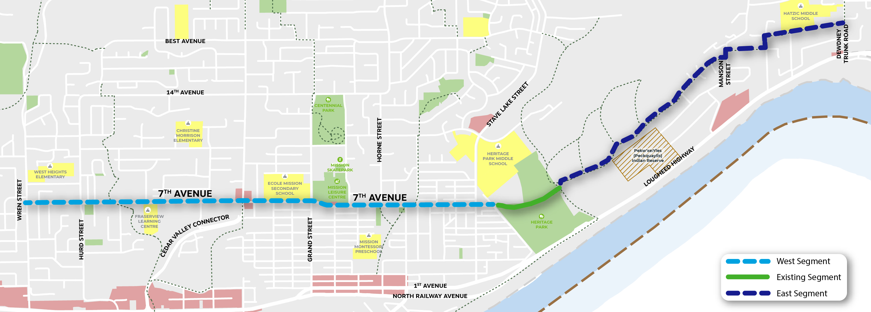 Image of greenway route