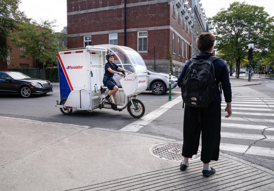 Purolator electric cargo bike