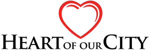Heart of our city logo color