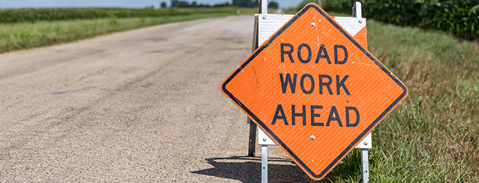 Road work ahead homepage