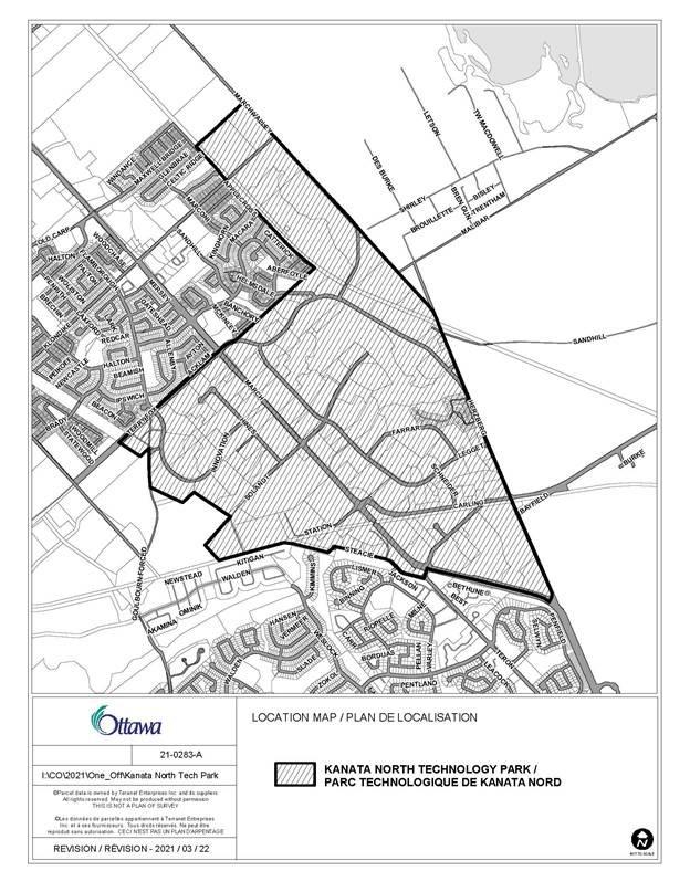 Plan clé de parc technologique de Kanata