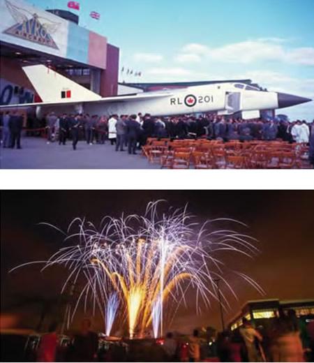 Avro Arrow and Fireworks photo