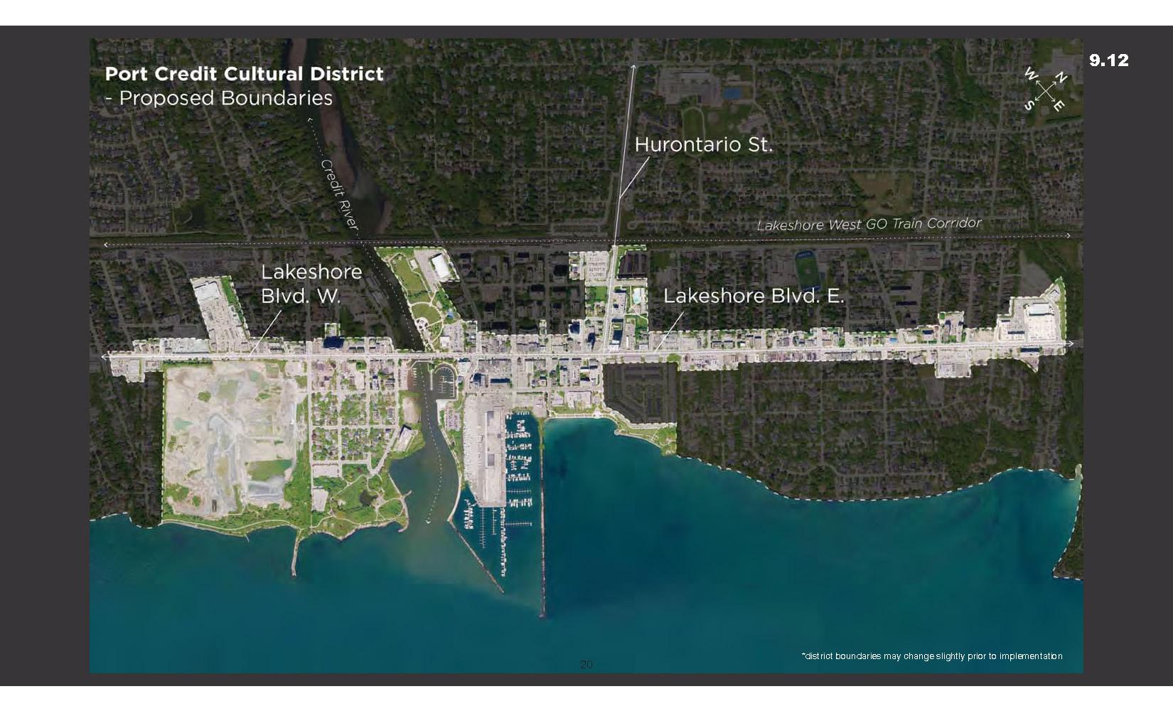 Proposed Port Credit District Boundaries