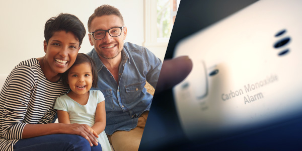 Family and carbon monoxide alarm