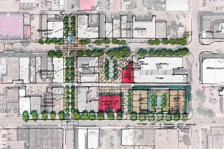 Public plaza site plan
