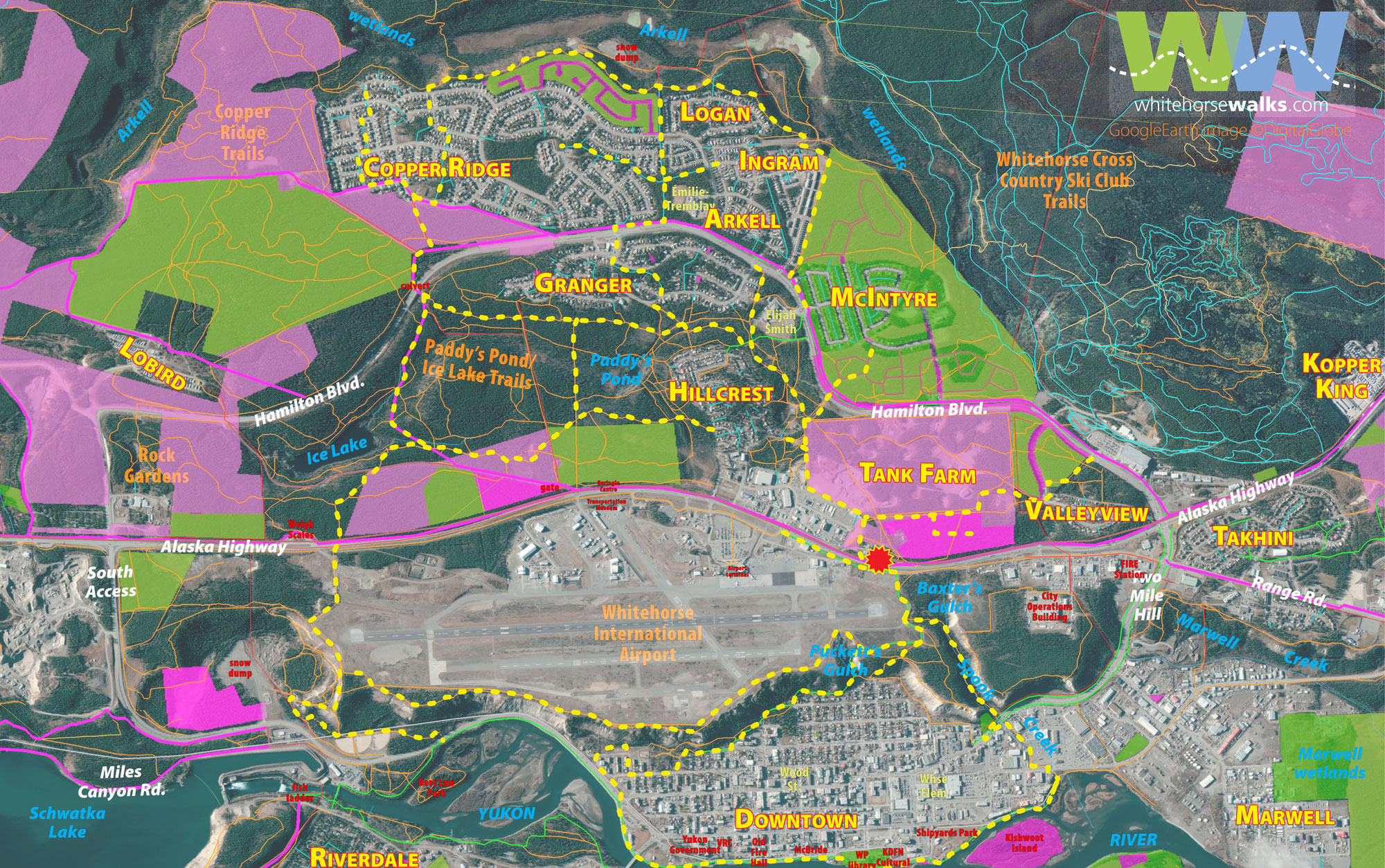 Overview Map - Whitehorse Walks