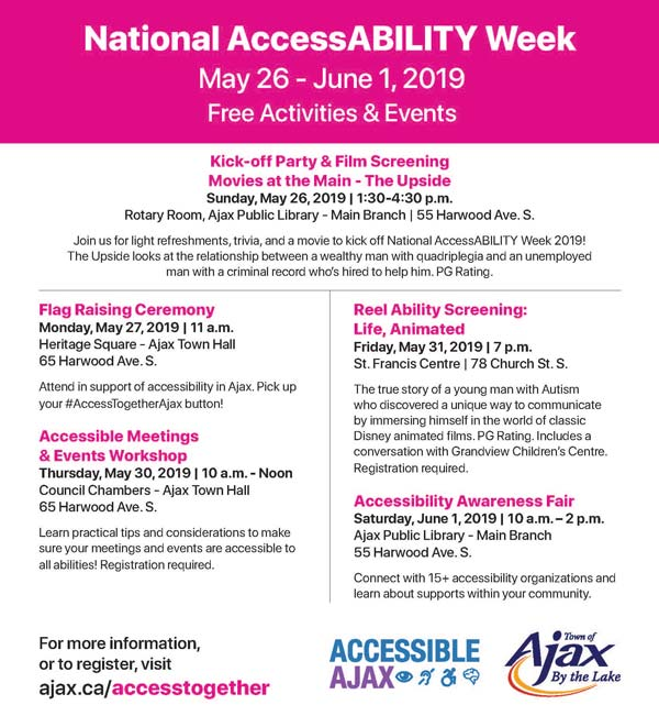 Access Together Ajax - event flyer